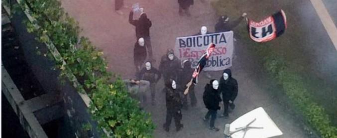 Forza Nuova, blitz fascista davanti alla sede di Repubblica: otto indagati, anche un minore