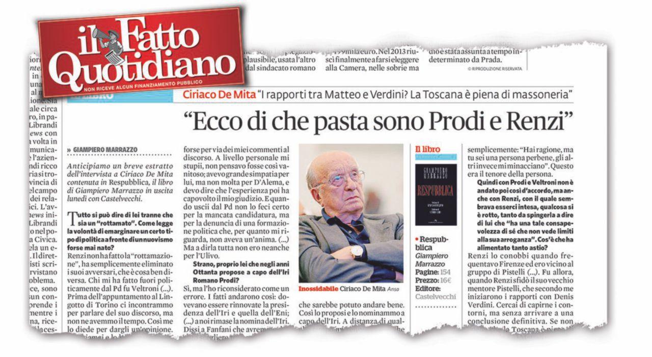 """Prodi: """"Sulla mia Iri De Mita mente: è ancora irritato…"""""""