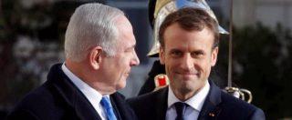 """Gerusalemme, Macron a Netanyahu: """"La decisione di Trump mette in pericolo la pace, Israele congeli le colonie"""""""
