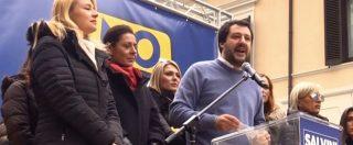 """Elezioni, la promessa di Salvini: """"Se non vinciamo contro Di Maio e Renzi cambiamo mestiere"""""""