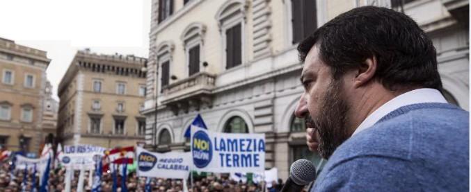 """Ius Soli, Salvini in piazza: """"I profughi di Alfano? Non siamo l'arca di Noè. Faremo piangere di nuovo la Fornero"""""""