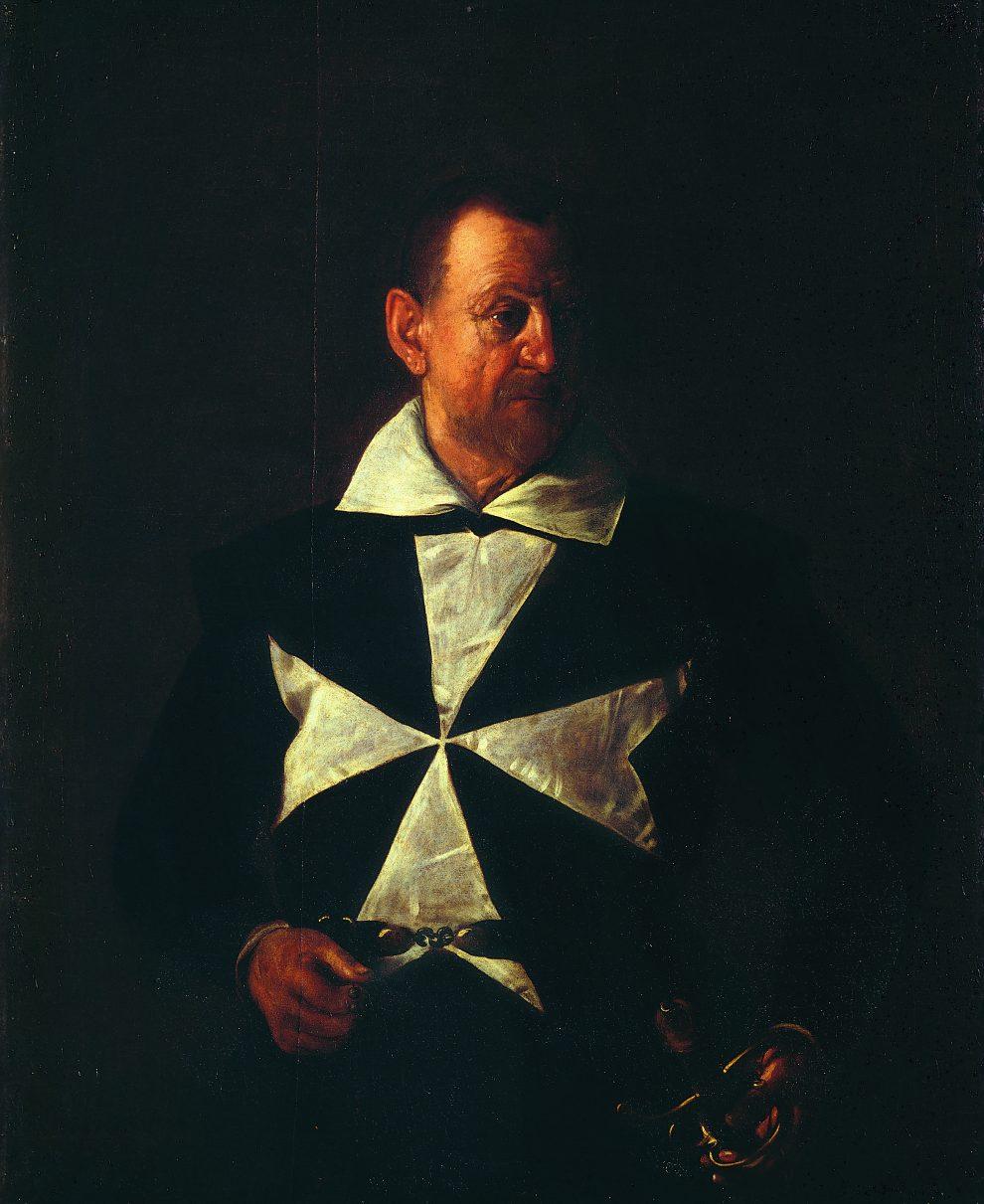 Ritratto di un cavaliere di Malta, 1607-1608. Olio su tela, 118,5 x 95 cm. Galleria Palatina di Palazzo Pitti, Firenze Gabinetto fotografico delle Gallerie degli Uffizi, Firenze
