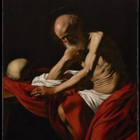 San Girolamo penitente, 1605-1606. Olio su tela, 140,5 x 101,5 cm. Museu de Montserrat, Barcellona Museum the Montserrat – Photo Dani Rovira