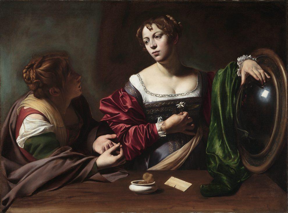 Marta e Maria Maddalena,1598-1599. Olio e tempera su tela, 100,2 x 135,4 cm. Detroit Institute of Arts Detroit Institute of Arts Conservation Imaging Lab