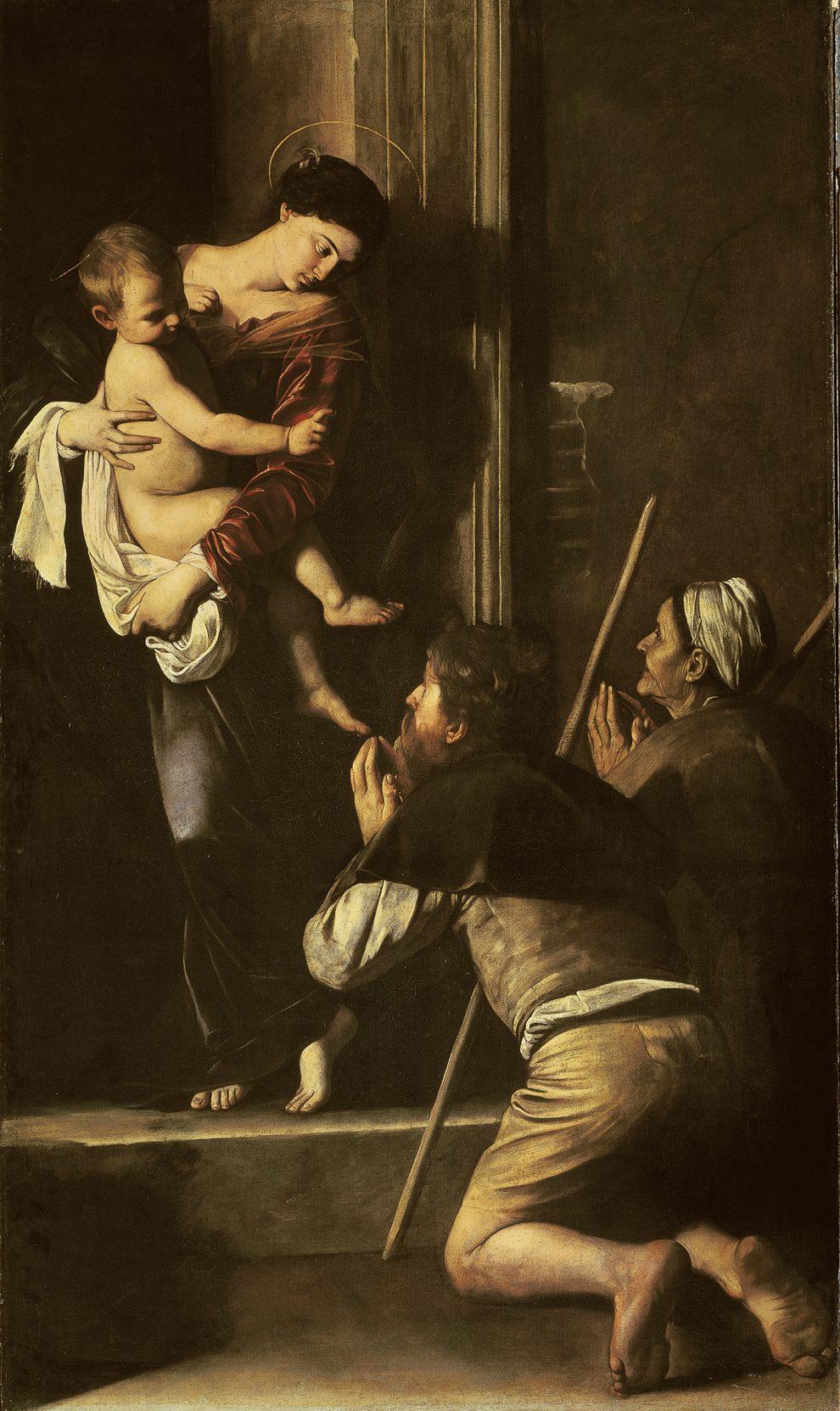 Madonna di Loreto, olio su tela, 260 x 150 cm.  Roma, Basilica di Sant'Agostino Foto Giuseppe Schiavinotto, Roma