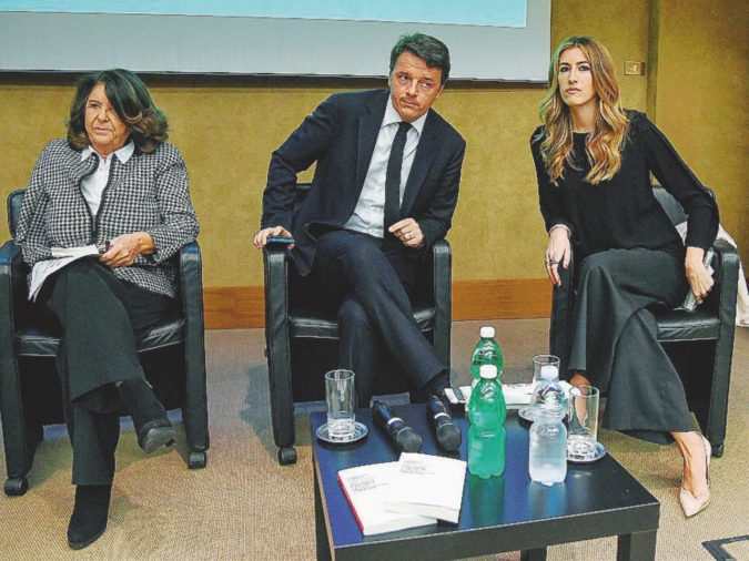 Renzi scappa per non rispondere su Grasso