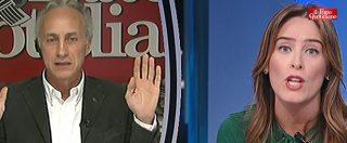 """Boschi vs Travaglio: """"Lei mi odia"""". """"Ha mentito e in un Paese serio la sua carriera politica finirebbe oggi"""""""