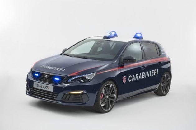 Peugeot 308 GTi, un Leone dedicato ai Carabinieri – FOTO