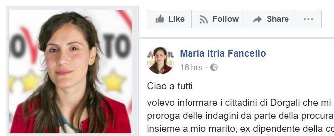 """Dorgali, sindaca M5S annuncia su Fb: """"Sono indagata per turbativa asta"""""""