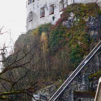 L'ascensore che porta alla fortezza