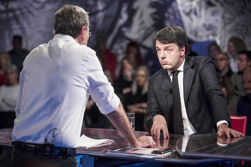 Il suicidio in tv di Renzi & Boschi