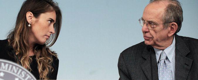 Boschi, Padoan la scarica: 'Mai autorizzato altri ministri a occuparsi di banche'. M5s: 'Dimissioni atto di dignità'