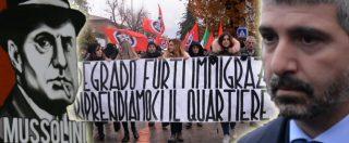 """Casapound manifesta a Perugia: """"In un anno da 3 a 300 iscritti"""". Di Stefano: """"Nelle regioni rosse troviamo terreno fertile"""""""