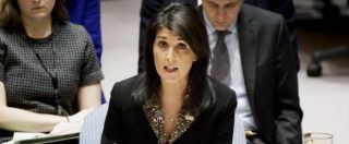 """Gerusalemme, minaccia Usa su mozione Onu: """"Prenderemo nomi di chi la voterà"""""""