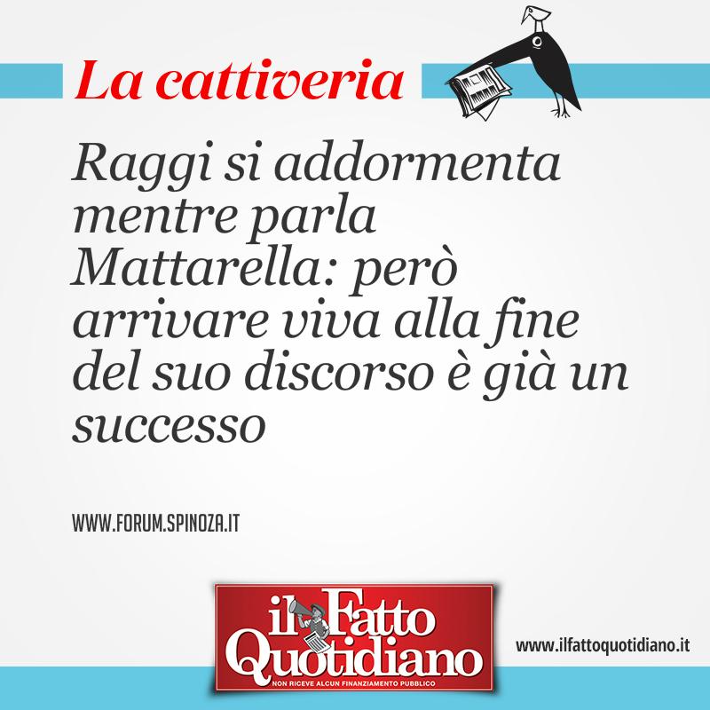 Quirinale, Virginia Raggi si addormenta mente parla Mattarella: però arrivare viva alla fine del suo discorso è già un successo