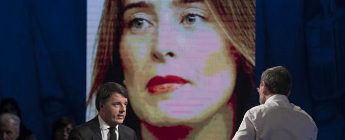 """Etruria, Renzi: """"Boschi? Caccia alla donna. No al passo indietro, decideranno elettori"""". Lei inaugura la difesa semantica"""