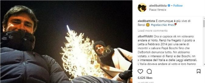 Se spelacchio è Renzi, Di Battista su Instagram 'E' più vivo di te'