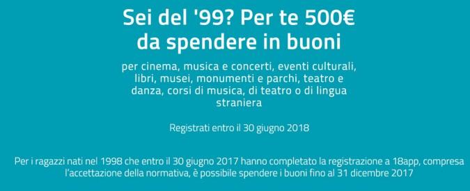 Bonus cultura, per i nati nel 1998 restano pochissimi giorni per spendere i 500 euro statali