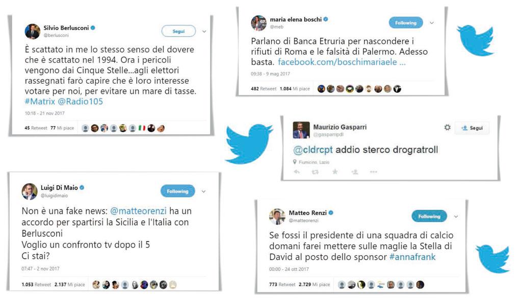 Ecco i venti tweet politici più imbarazzanti del 2017