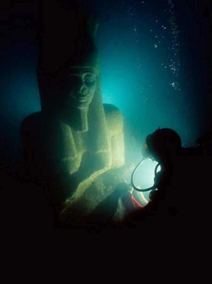 egitto, scoperta heracleion: l'atlantide sprofondata in mare. grande come parigi, più antica di roma