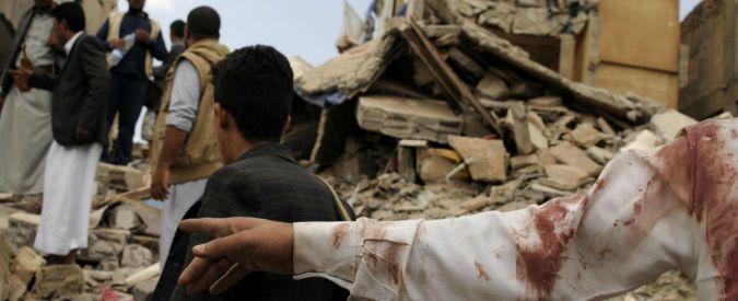 Bombe italiane uccidono civili in Yemen, la notizia choc scompare. Eppure, 'L'Italia ripudia la guerra'