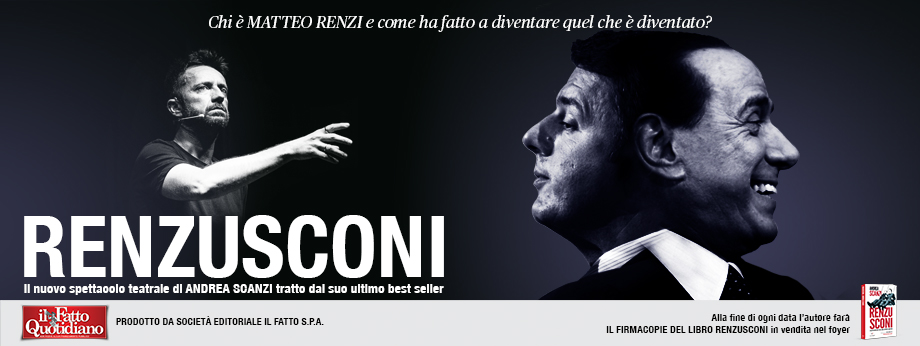 Renzusconi, il nuovo spettacolo di e con Andrea Scanzi. Le date del tour