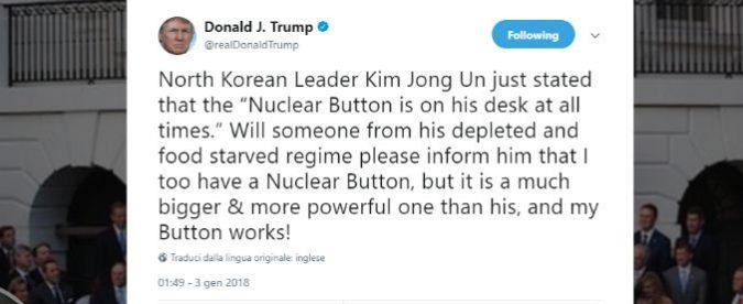 Il 'bottone' di Trump ci ha fatto dimenticare cos'è la guerra