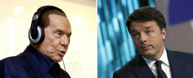 """Berlusconi: """"Toglieremo il Jobs Act, ha dato spinta solo ai contratti a termine"""". Renzi: """"Lui ha fallito la prova di governo"""""""