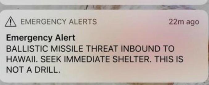 """Hawaii, falso allarme per un missile in arrivo: 38 minuti di panico, poi le autorità si scusano. """"Testo partito per sbaglio"""""""