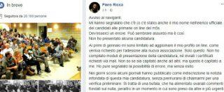 """Parlamentarie M5s, il caso Piero Ricca: """"Io nell'elenco ufficiale dei candidati a mia insaputa"""""""
