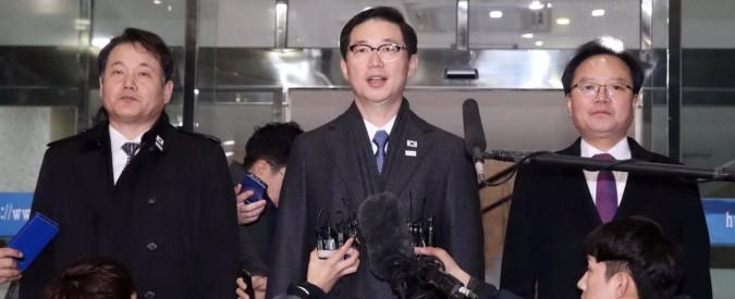 """Nord e Sud Corea insieme ai Giochi, Fiori: """"Nessun effetto su questione nucleare. E' già accaduto e i rapporti sono pessimi"""""""