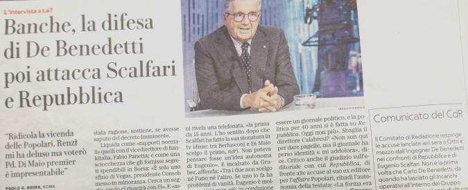 """De Benedetti, la replica dei giornalisti di Repubblica: """"Nostra identità e coraggio sono vivi. Risponderemo agli attacchi"""""""