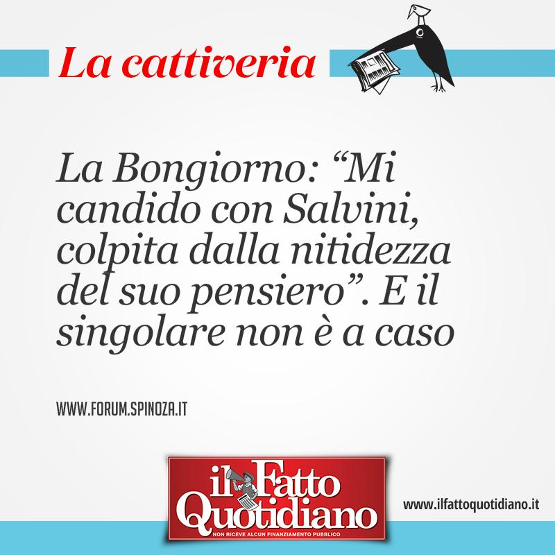 """La Bongiorno: """"Mi candido con Salvini, colpita dalla nitidezza del suo pensiero"""". E il singolare non è a caso"""