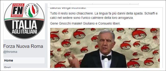 'Schiaffi e calci' a Gene Gnocchi per una battuta, questo è il vero volto dei neofascisti ripuliti