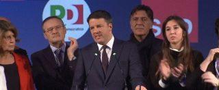 """Renzi: """"Futuro sono Stati Uniti d'Europa. Voto a destra ci allontana da Bruxelles"""". Gentiloni annuncia: """"Mi candido a Roma"""""""