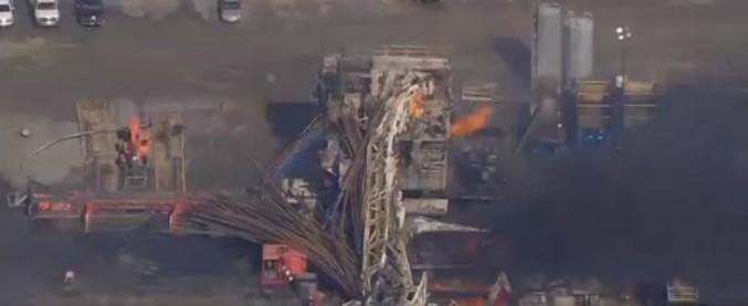 Usa, esplode piattaforma di trivellazione in Oklahoma: cinque operai dispersi