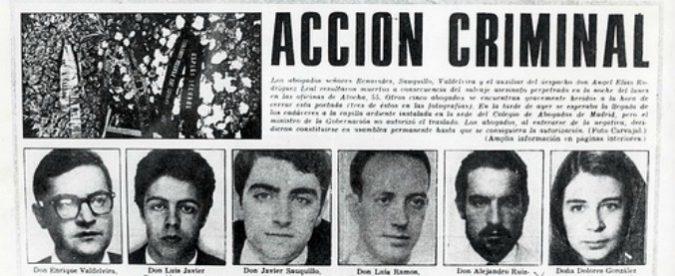 Spagna, con la 'matanza de Atocha' si ricorda anche il caso Regeni