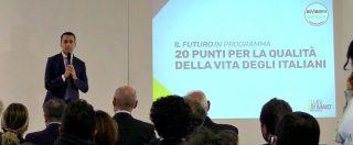 Programma M5s, 20 punti in 4 minuti. La nostra sintesi della presentazione di Luigi Di Maio a Pescara