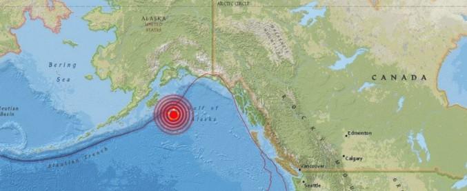 Alaska, terremoto di magnitudo 7.9. Rientrata l'allerta tsunami sulle coste del Canada e degli Stati Uniti