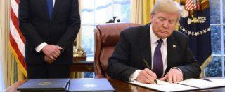 """Trump sfida Cina e Corea del Sud: """"Dazi su import di pannelli solari e lavatrici"""""""