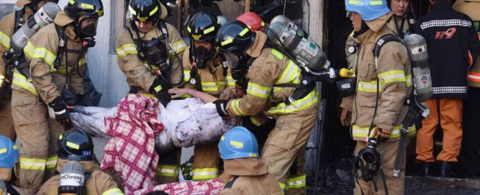 Corea del Sud, incendio in ospedale: 41 morti e 70 feriti. Peggiore rogo degli ultimi anni