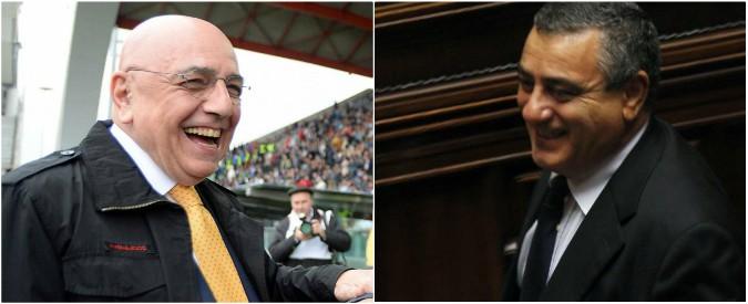 Centrodestra: Berlusconi lancia Galliani, Cesaro indagato per voto di scambio e i condannati Rinaldi e Papatheu