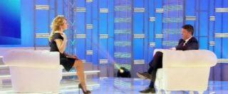 """Elezioni, Renzi a Domenica Live parla al pubblico di Berlusconi: """"Spin doctor? Le mie nonne. Ottanta euro per ogni figlio"""""""
