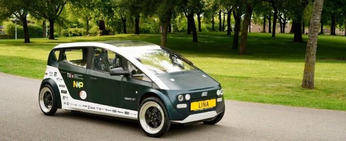 Lina, l'auto con carrozzeria biodegradabile di lino e barbabietole
