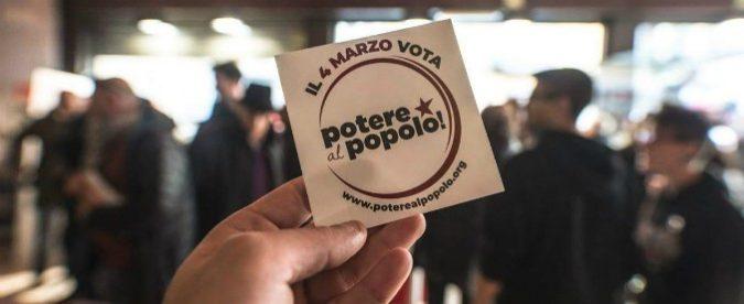 Potere al popolo è 'l'unica vera novità di queste elezioni', la penso come De Magistris