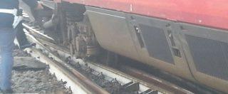 Roma, treno Frecciabianca esce dai binari: senza passeggeri, stava rientrando in deposito a Termini – FOTO