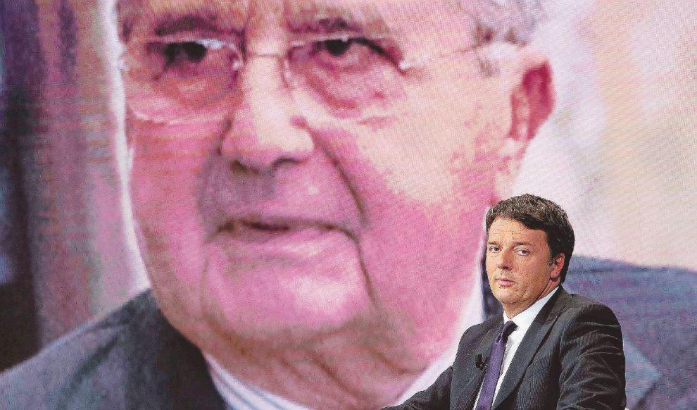 Amici di colazione – L'ex premier Matteo Renzi si fa consigliare dall'editore Carlo De Benedetti – LaPresse
