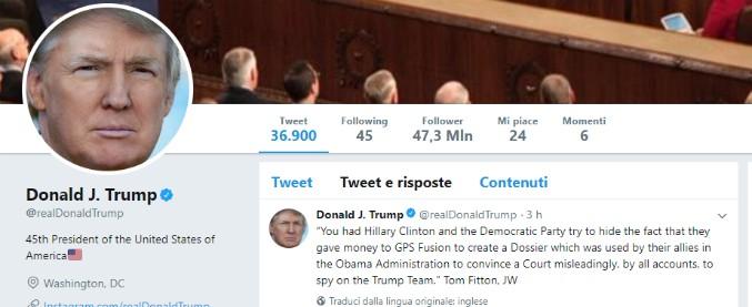 """Trump attacca l'Fbi: """"Vertici politicizzati, ha indagato contro i repubblicani"""". E dà ok alla pubblicazione del """"memo Nunes"""""""