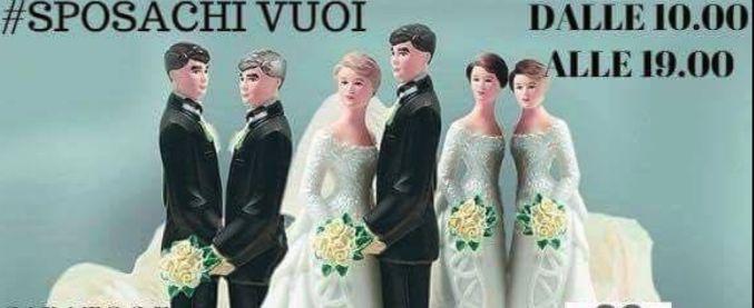 """Verona, Comune: """"Via slogan #sposachivuoi"""" nello stand della manifestazione per gli sposi"""