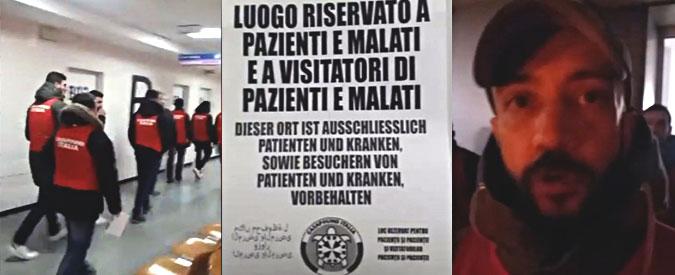 """Bolzano, blitz di Casapound in ospedale contro i senzatetto: """"Qui solo pazienti"""". E il candidato di Fdi alla Camera esulta"""